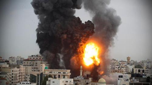 Spanning in de Gazastrook en Israël