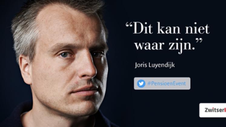 Trending: Joris Luyendijk aan de slag voor Zwitserleven
