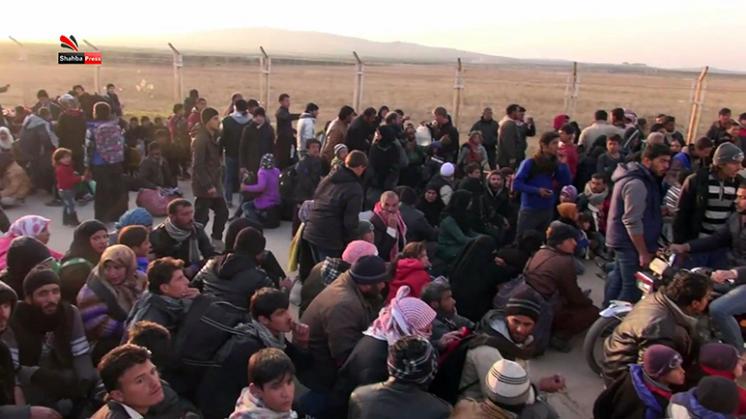 Vluchtelingenstroom vanwege bombardementen Aleppo