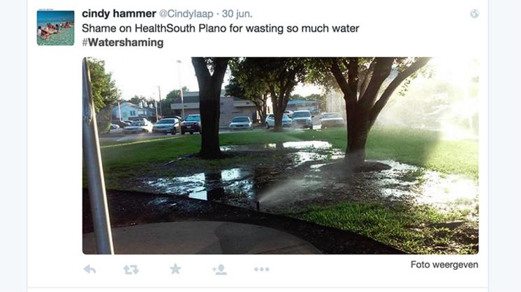 #Watershaming door droogte Californië