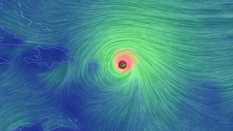 Superorkaan Irma teistert Cariben